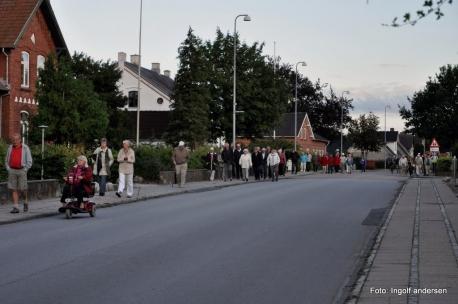 Billedet er fra en tidligere byvandring i Jels. Foto: Ingolf Andersen
